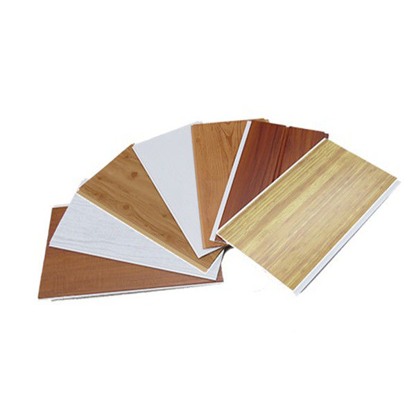 Wood Grain / Fiber Wood Plastic Composite Decking , Laminated PVC Wall Panels